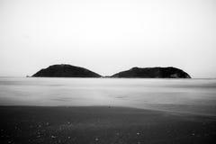 Sea mountain black and white Stock Image