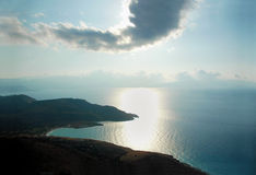 Sea and mountain panorama. Beautiful panorama of sea and mountain coast Stock Photo