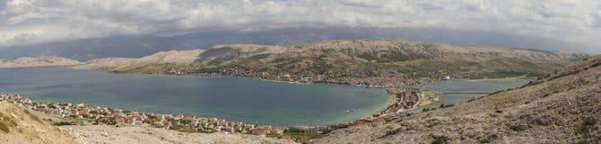 Sea and mountain panorama Stock Image