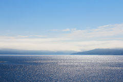 Sea and mountain range Royalty Free Stock Photography