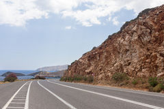 Sea Mountain Road Royalty Free Stock Photo