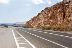Sea Mountain Road Stock Images