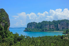 Sea and mountain. Sea view from mountain view in island Royalty Free Stock Photography