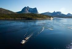 Lofoten mountains and sea Stock Photos