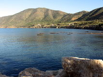 Sea and mountains. The sea at Pomos village, Cyprus Stock Images