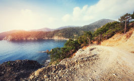 Sea between mountains Royalty Free Stock Photography