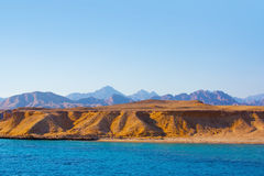 Sea and mountains in egypt Stock Image
