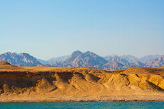 Sea and mountains  in egypt Royalty Free Stock Image