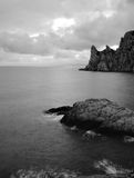 The sea and mountains monochrome Royalty Free Stock Photos