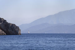 The sea and the mountains in Turkey Stock Photos