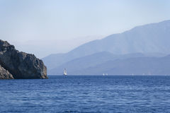 The sea and the mountains in Turkey Stock Image