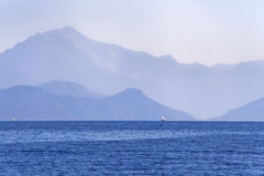 The sea and the mountains in Turkey Royalty Free Stock Images
