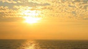 Sea moving sunset stock video