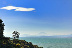 Sea and Mt. Fuji. Royalty Free Stock Photography