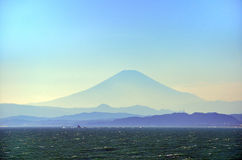 Sea and Mt. Fuji. Royalty Free Stock Images