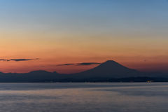 Sea and Mt. Fuji. Royalty Free Stock Images