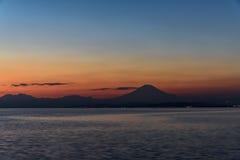 Sea and Mt. Fuji. Royalty Free Stock Photography
