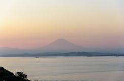 Sea and Mt.Fuji. Royalty Free Stock Photography