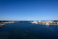 Sea and Mt.Fuji. Royalty Free Stock Photo