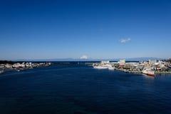 Sea and Mt.Fuji. Stock Images