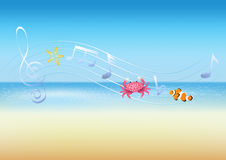 Sea music. The music of the sea Royalty Free Stock Images