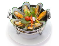 Sea mussel and lemon grass soup Royalty Free Stock Photos