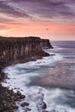 Sea N Head set cliffs vertical Royalty Free Stock Images