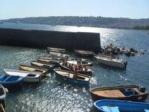 The sea of Naples stock image