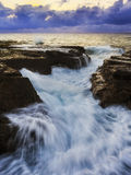 Sea Narrab Crack Stream Vert Royalty Free Stock Images