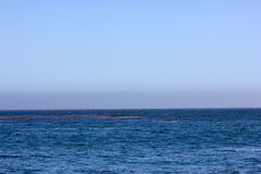 Sea at Natural Bridges Beach California Stock Images