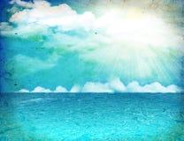 Sea nature image.Vintage  image Stock Photos