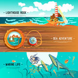 Sea Nautical Banners vector illustration