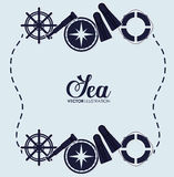 Sea and nautical equipment. Graphic design, vector illustration Stock Photos
