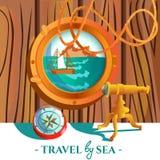 Sea Nautical Poster Stock Image