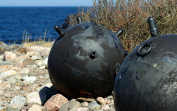 Sea naval mine Stock Image