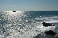 The sea near Acre. Royalty Free Stock Image