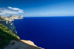 Sea near Cape Formentor in Mallorca horizontal. Sea near Cape Formentor in Mallorca, Balearic island, Spain Stock Images