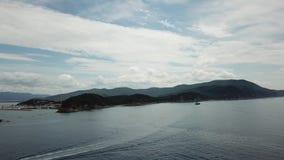 Sea near Punta Ala. Italy. Aerial view landscape stock video footage