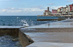 Seafront of the old town Royalty Free Stock Photo