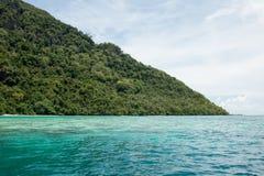Sea in Negeri Sabah Malaixiya. The sea and mountain in Negeri Sabah, Malaixiya, Asia in one Sunny day Stock Photography