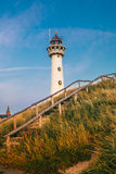 Sea netherlands sand lighthouse stock photo