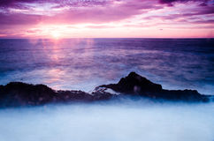 Sea. Nice sunset by the sea on Fuerteventura Stock Photos
