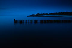 Sea at night. Royalty Free Stock Images