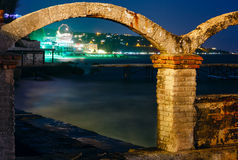 Sea night coast (Bulgaria). Stock Images