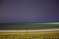 Sea and night sky Royalty Free Stock Image