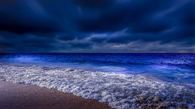 Sea At Night Time Stock Photography