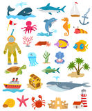 Sea and ocean animals and fishes Stock Photography