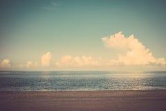 Sea ocean beach cloud blue sky vintage Stock Images