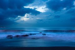 Sea, Ocean, Blue, Water, Waves Royalty Free Stock Photography