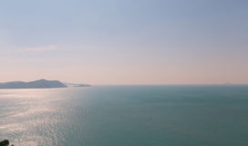 Sea and Ocean. Calm Sea Ocean And Blue Sky Background Royalty Free Stock Photo